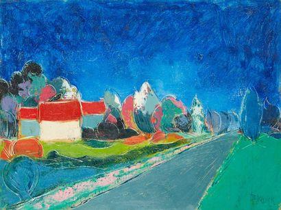 Amand BOUVIER (1913-1997)  Les toits rouges...