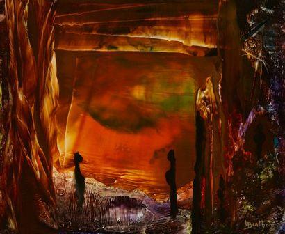 Lucienne BERTHON (1926 - Paris 2012)  L'angélus...