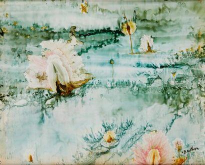 Lucienne BERTHON (1926 - Paris 2012)  Fleurs...