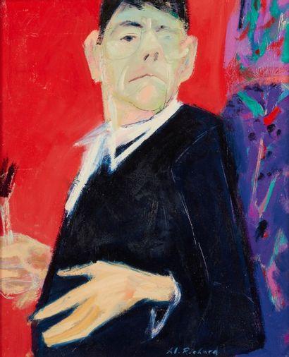 Alain RICHARD (Né en 1933)  Autoportrait...