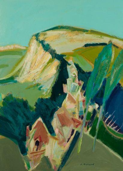 Alain RICHARD (Né en 1933)  La colline de...