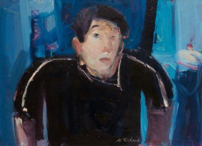 Alain RICHARD (Né en 1933)  Portrait de jeune...