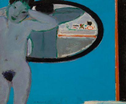 Alain RICHARD (Né en 1933)  Nu au miroir...
