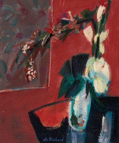 Alain RICHARD (Né en 1933)  Bouquet de fleurs...