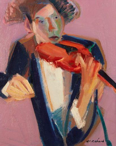 Alain RICHARD (Né en 1933)  Avant la partition...