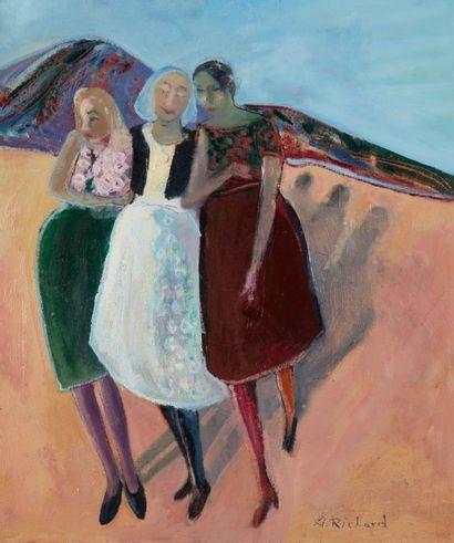 Alain RICHARD (Né en 1933)  Trois femmes...