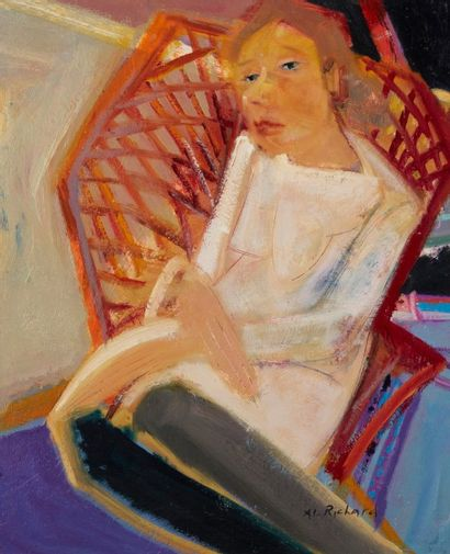 Alain RICHARD (Né en 1933)  Olga  Huile sur...