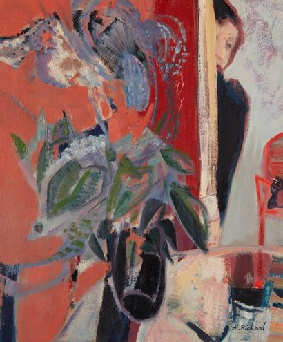 Alain RICHARD (Né en 1933)  Derrière le bouquet...