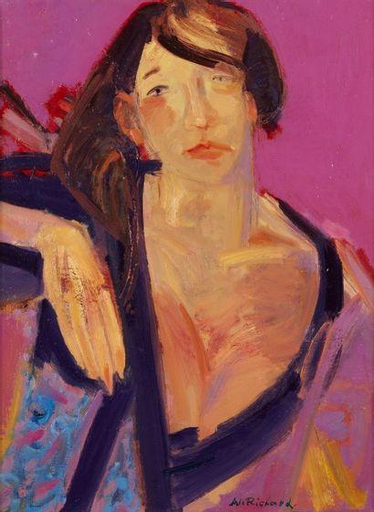 Alain RICHARD (Né en 1933)  Juliane  Huile...