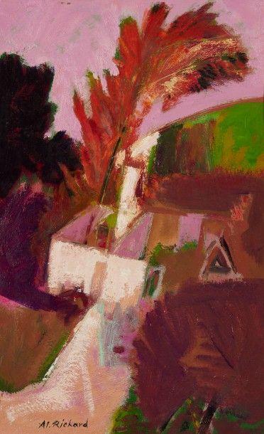 Alain RICHARD (Né en 1933)  La maison blanche...