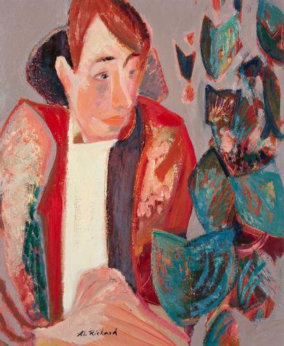 Alain RICHARD (Né en 1933)  Portrait  Huile...