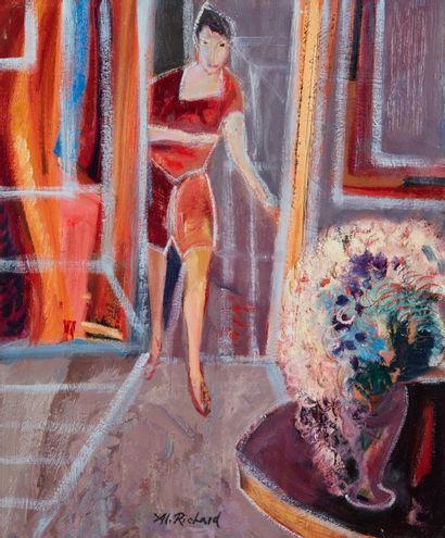 Alain RICHARD (Né en 1933)  Femme derrière...