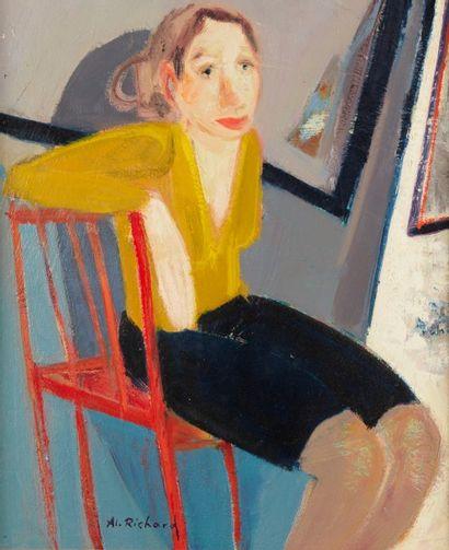 Alain RICHARD (Né en 1933)  Hésitation  Huile...