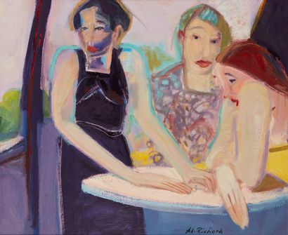 Alain RICHARD (Né en 1933)  Les trois femmes...