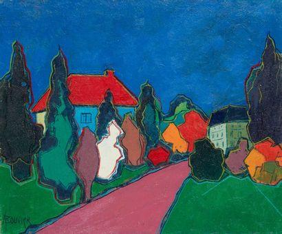 Amand BOUVIER (1913-1997)  Le chemin arboré...