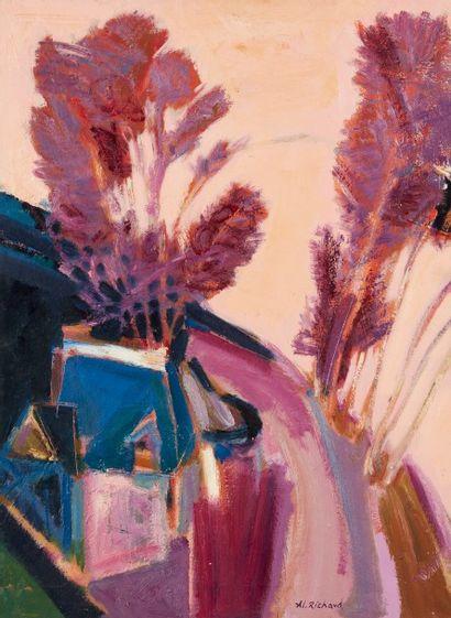 Alain RICHARD (Né en 1933)  Le Valdieux  Huile...