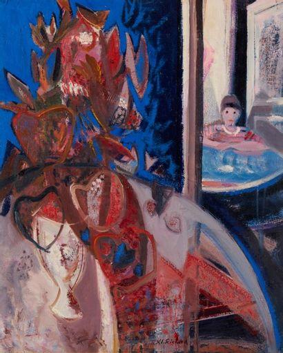 Alain RICHARD (Né en 1933)  Bouquet dans...