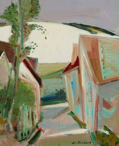 Alain RICHARD (Né en 1933)  Ruelle sur la...