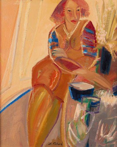 Alain RICHARD (Né en 1933)  Femme assise...