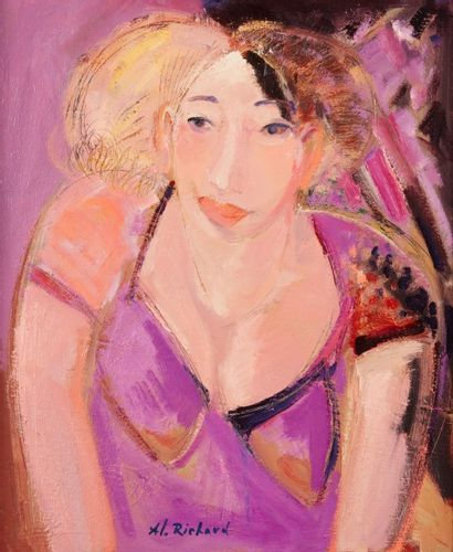 Alain RICHARD (Né en 1933)  Angelina  Huile...