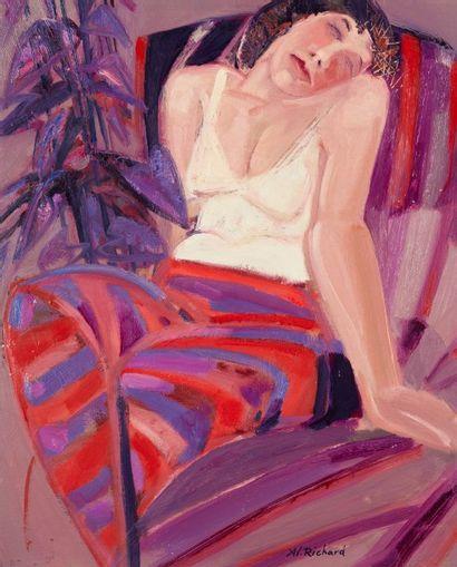 Alain RICHARD (Né en 1933)  Olga assoupie...