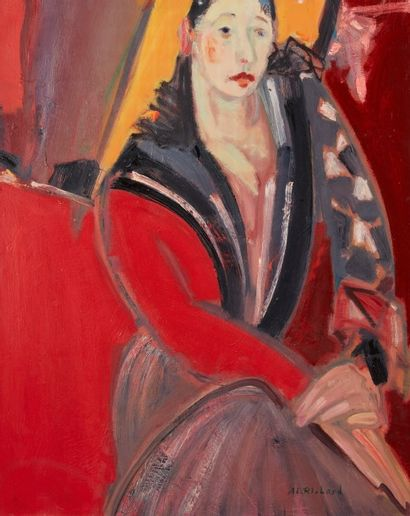 Alain RICHARD (Né en 1933)  Leilla  Huile...
