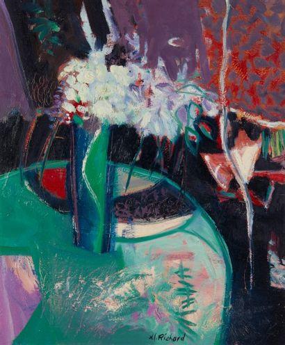 Alain RICHARD (Né en 1933)  Les bouquets...