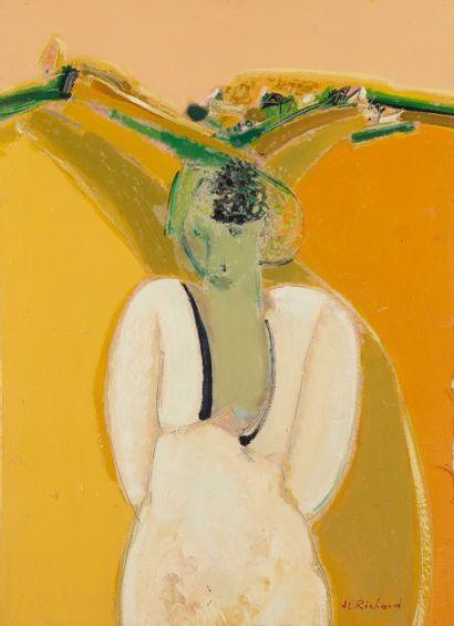 Alain RICHARD (Né en 1933)  Paysage jaune...