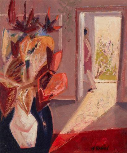 Alain RICHARD (Né en 1933)  Le bouquet  Huile...