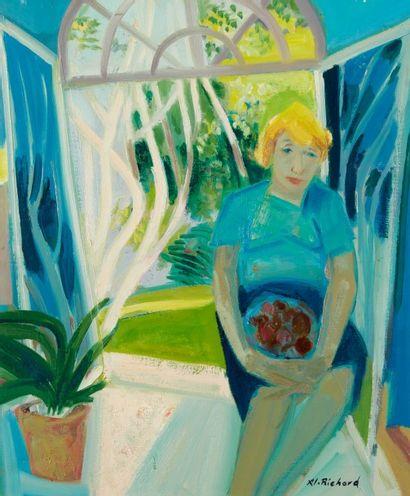 Alain RICHARD (Né en 1933)  Le jardin de...