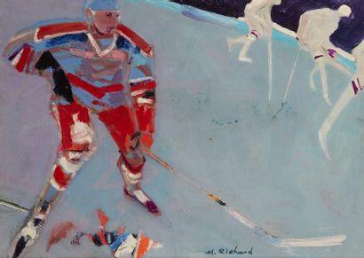 Alain RICHARD (Né en 1933)  Hockey sur glace...