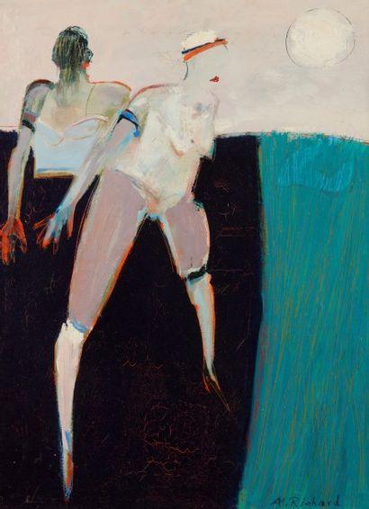Alain RICHARD (Né en 1933)  Le soleil blanc...