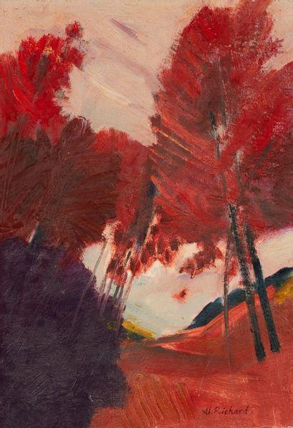 Alain RICHARD (Né en 1933)  L'orée du bois...
