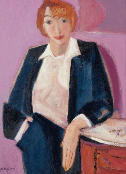 Alain RICHARD (Né en 1933)  Mireille  Huile...