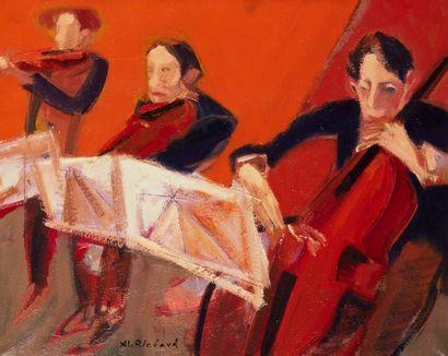 Alain RICHARD (Né en 1933)  Le trio  Huile...