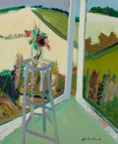 Alain RICHARD (Né en 1933)  La fenêtre ouverte...
