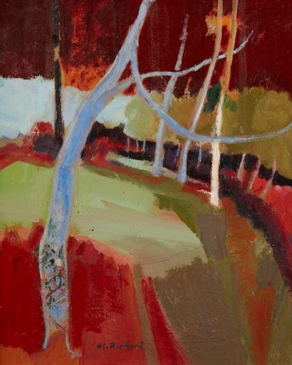 Alain RICHARD (Né en 1933)  Le chemin rouge...