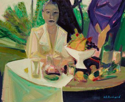 Alain RICHARD (Né en 1933)  Exotisme  Huile...