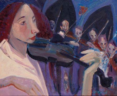 Alain RICHARD (Né en 1933)  L'orchestre de...