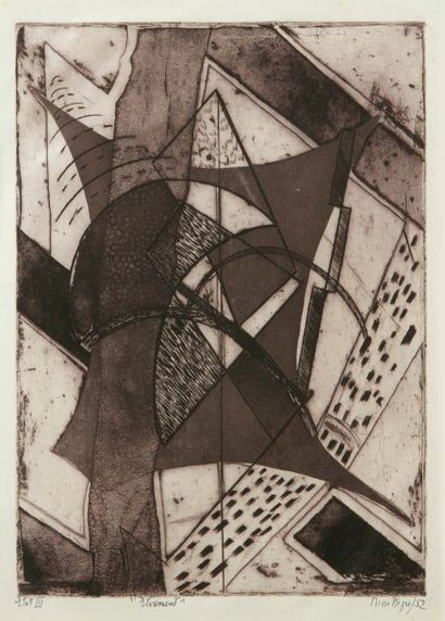Nina NEGRI (Argentine 1901- Paris 1981)  Etirement...