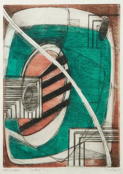 Nina NEGRI (Argentine 1901- Paris 1981)  Spatiale...