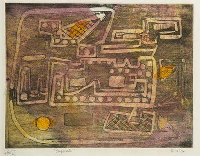 Nina NEGRI (Argentine 1901- Paris 1981)  Empreintes...