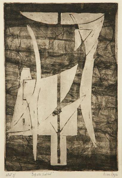 Nina NEGRI (Argentine 1901- Paris 1981)  Espaces...