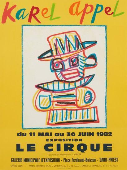 Affiche Karel Appel, Le Cirque, Galerie...