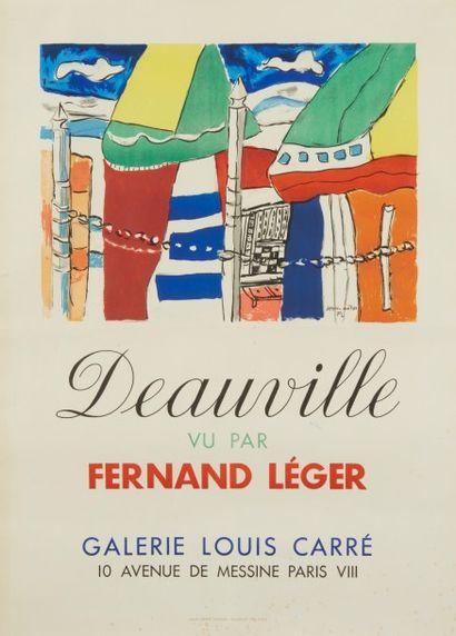 Affiche Deauville vu par Fernand Léger,...