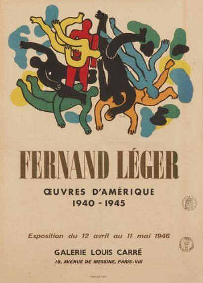 Affiche Fernand Léger Œuvres d'Amérique...