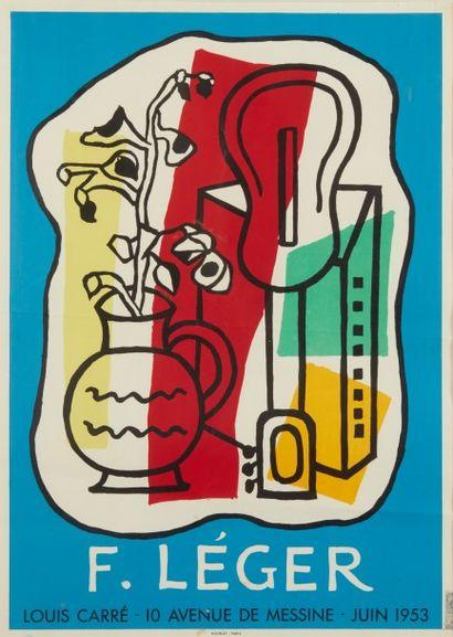 Affiche Fernand Léger, Galerie Louis Carré...