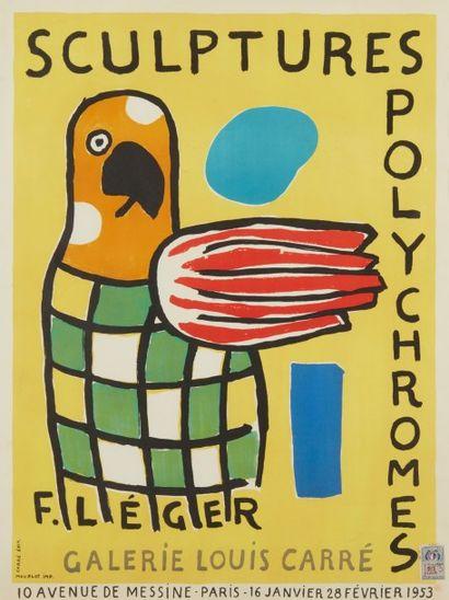 Affiche , sculptures polychromes, Fernand...