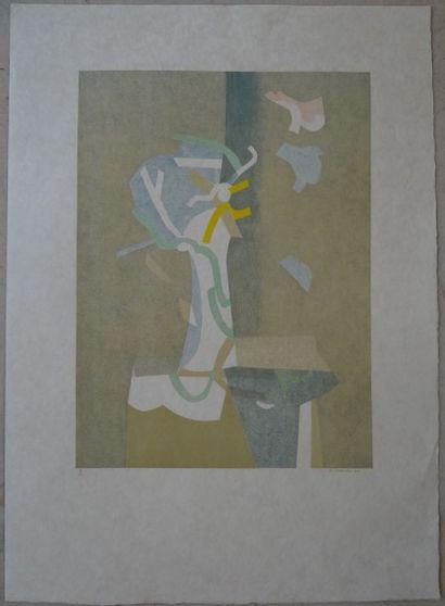 ECOLE DU XXEME SIECLE  Ensemble de 8 lithographies...