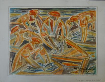GUY-DAVID (Poitiers 1911 - Nantes 1980)  Etude...